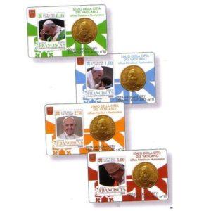 vaticano set 4 coincards 2016