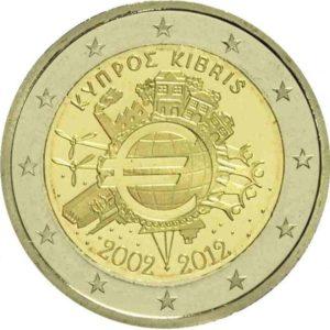 2_€_commemorativo_Cipro_10°€_2012