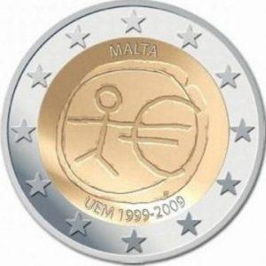 2_euro_commemorativo_Malta_UEM_2009