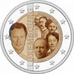 2_euro_commemorativo_lussemburgo_2015_125_dinastia