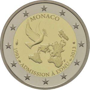 2820a7ef19 Monaco 2€ CC 2013 Ammissione all'ONU FDC UNC