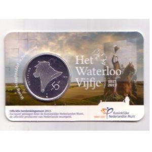 Olanda 5 € 2015 argento Waterloo coincard