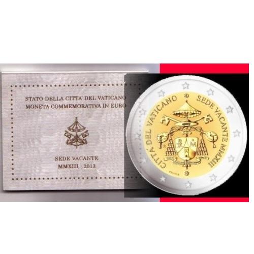 be7872617b Vaticano 2€ 2013 Sede Vacante – Timoleonte Collezioni