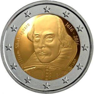 2_euro_commemorativo_san_marino_2016_Shakespeare