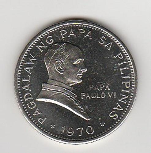 9e24ead374 Filippine 1 piso 1970 FDC Visita Papa Paolo VI KM 202 – Timoleonte ...