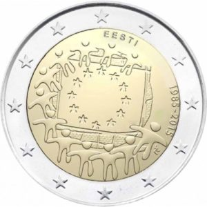 2_€_commemorativo_Estonia_Bandiera_europea_2015