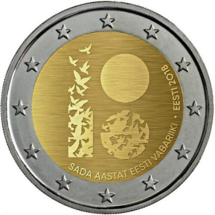 2_euro_commemorativo_estonia_2018_repubblica
