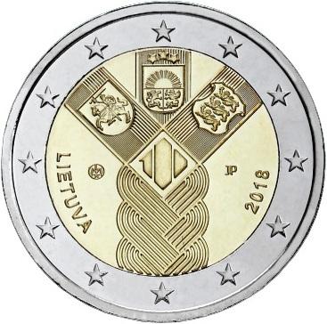 2_euro_commemorativo_lituania_2018_baltici
