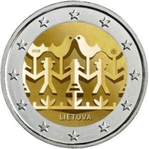 2_euro_commemorativo_lituania_2018_danza